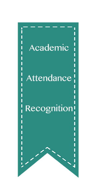 Academic, Attendance, Recognition Ribbons